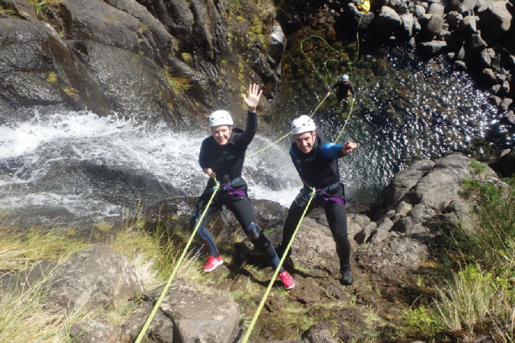 Canyoning in Ribeira das Cales Level 1 Madeira Adventure